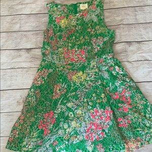 Green and pink lace dress